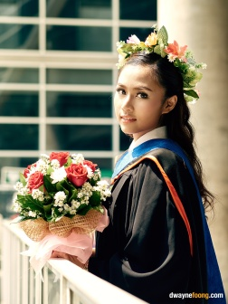 Thailand graduation photography in Bangkok University, Rangsit Campus.